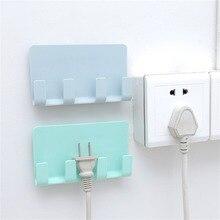 Wall Mount Phone Holder Socket Charging Box Bracket Stand Holder Shelf Support Universal for Mobile Phone Tablet