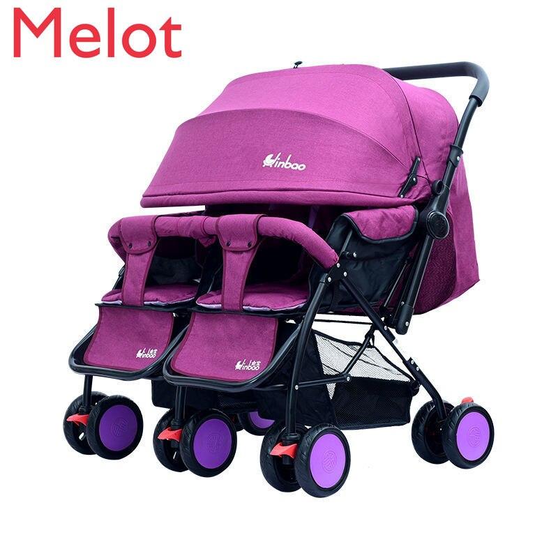 عربة أطفال فائقة خفيفة الوزن بطريقتين قابلة للطي مزودة بممتص للصدمات عربة أطفال توأم