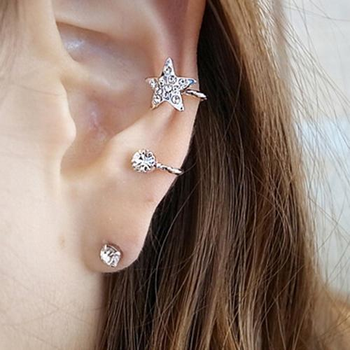 1 Pc Neue Retro Kristall Ohrringe Strass Blatt Ohr Manschette Ohrringe Warp Clip Ohr Clip Frauen Modeschmuck Anmutig Ohrringe 2020
