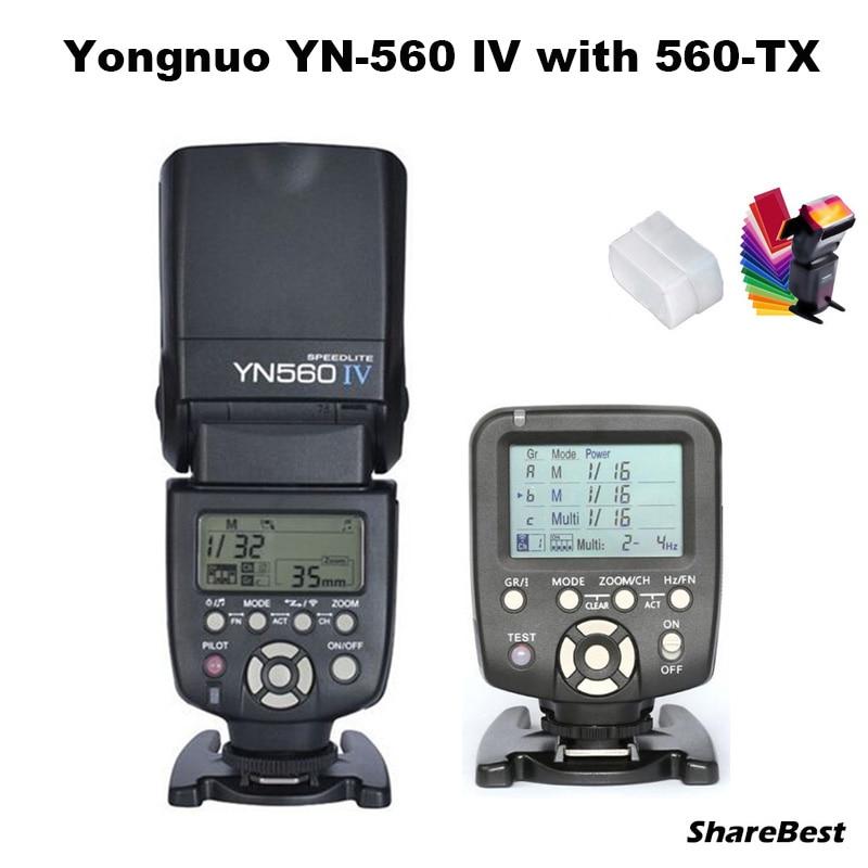 Flash Speedlite YongNuo YN-560 IV com YN560-TX Wirelss Transmissor para Nikon D90 D800 D810 D700 D610 D7000 D7100 D5200 Câmera