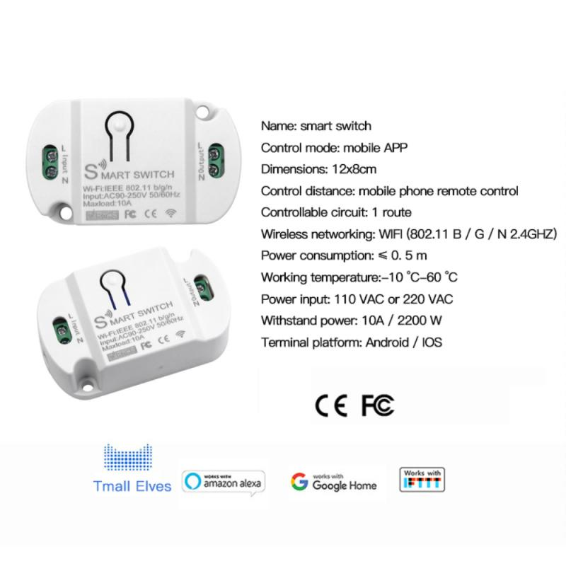 10A Wifi Smart Switch Timer Smart Automation Life Module Switche Smart Home Automation Compatible With Tuya Alexa Google Home