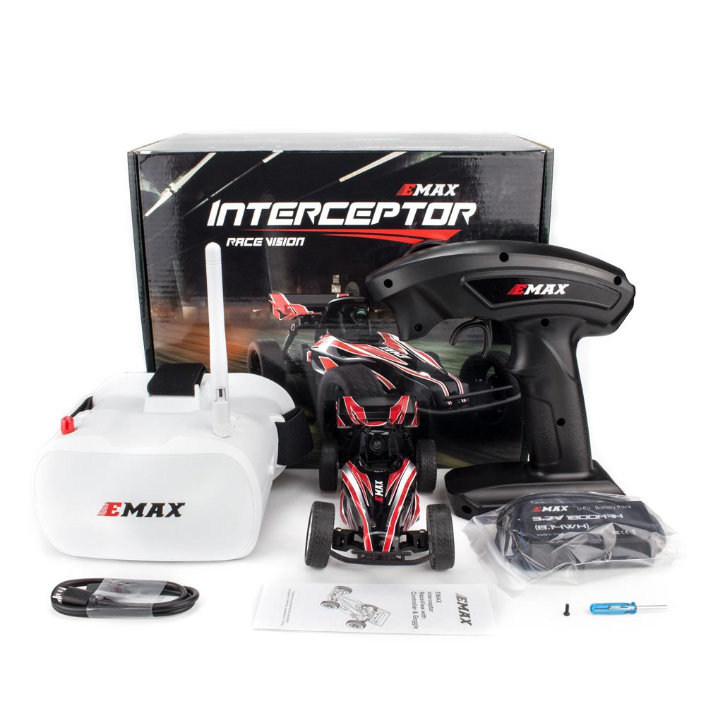 EMAX Interceptor Remote Control FPV RC Car with Glasses Full Proportional Control RTR Model Boy Toys Gifts enlarge