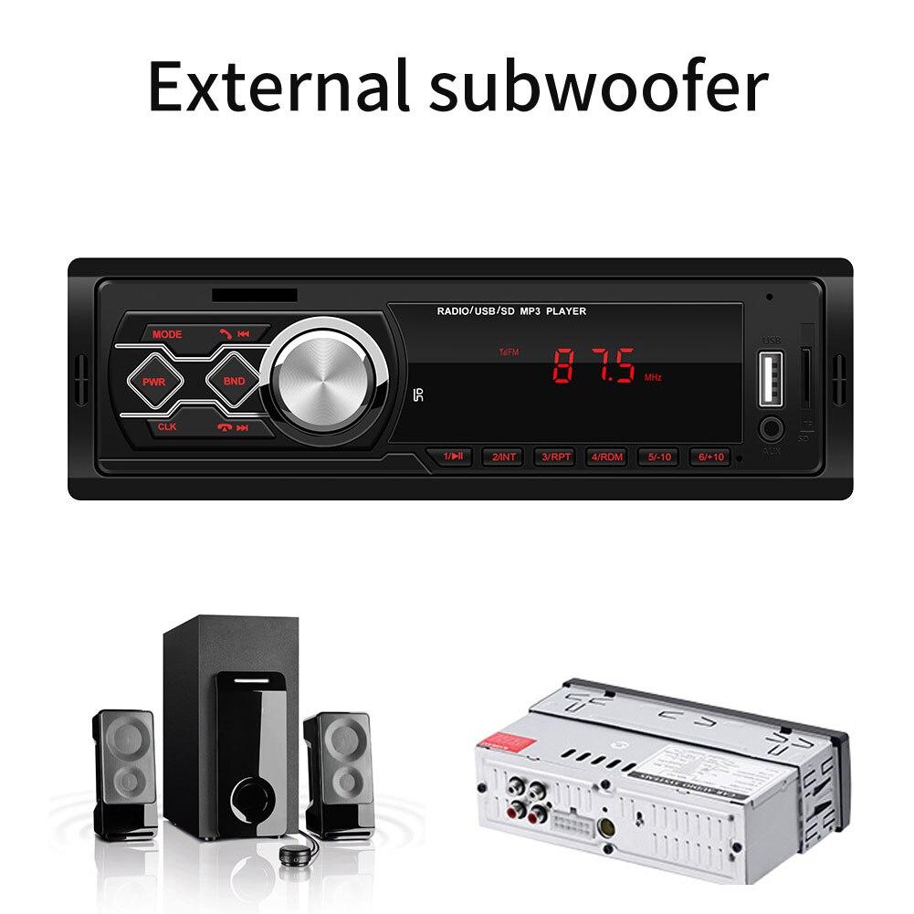 Con altavoz de Audio Auto MP3 jugador camión de caja de música de coche vehículo Estéreo Universal pantalla Digital centro de Control de Radio FM