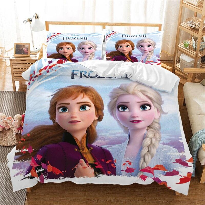 طقم سرير ملكة الثلج ، طقم سرير آنا وإلسا ، غطاء لحاف ، منسوجات منزلية ، مجموعة جديدة