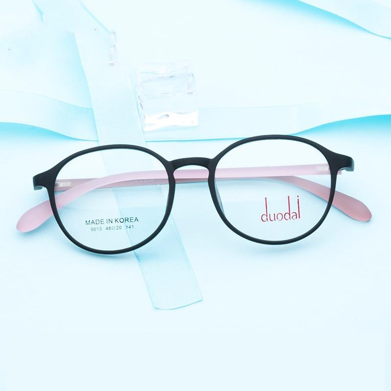 2019 Corea Supter luz Vintage TR90 prescripción gafas mujeres Retro redondo miopía gafas marco Lentes De Hombre Glases
