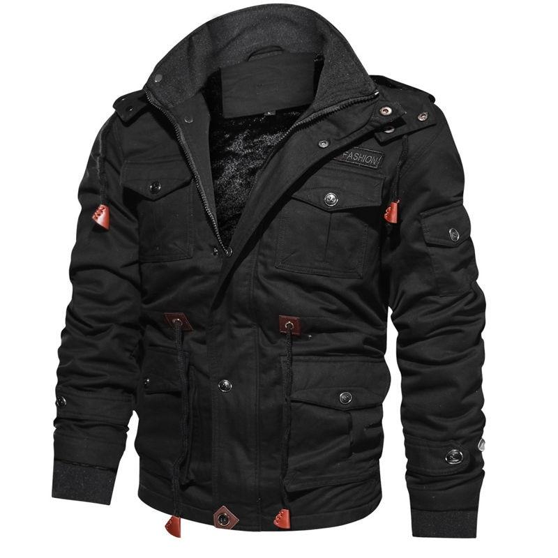 Новое поступление 2020, Мужские Зимние флисовые куртки, теплое пальто с капюшоном, утепленная верхняя одежда, мужская куртка в стиле милитари,...