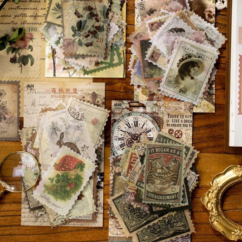 60-unids-set-pegatinas-retro-sello-estilo-planificador-diario-decorativas-de-pegatinas-artesanales-pegatinas-suministros-de-papeleria