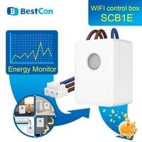 BestCon SCB1E     moniteur denergie Broadlink  domotique  Wifi  minuterie  interrupteur  Compatible avec Alexa Google Home  2021