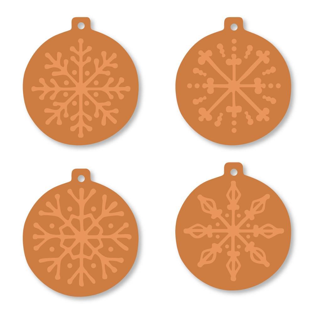 Swovo cuatro bolas de Navidad marco de Metal troqueles de corte para Scrapbooking tarjeta de felicitación hacer 2019 nuevo grabado en relieve troquelado