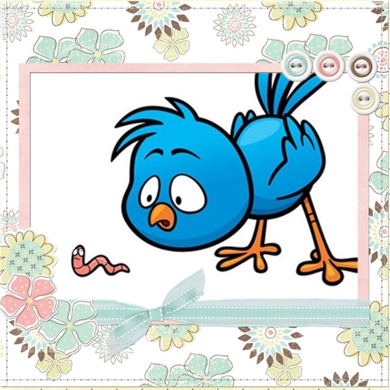 Girl Stamps like Animal Lark Birds Christmas Stamp crafts Card Halloween Easter No metal cutting dies scrapbooking pocket die