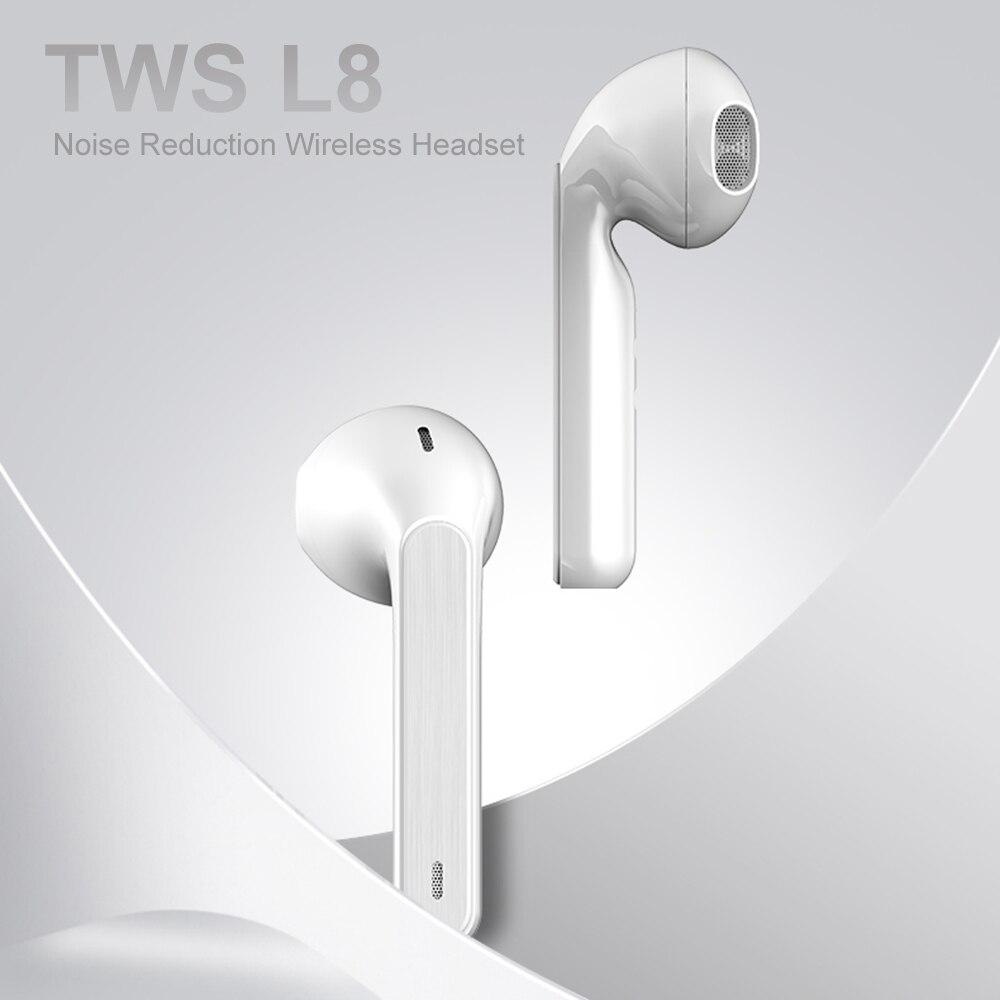 Auriculares inalámbricos L8 TWS auriculares inalámbricos auténticos BT5.0 en la oreja auriculares TWS auriculares inalámbricos con micrófono para iPhone Huawei