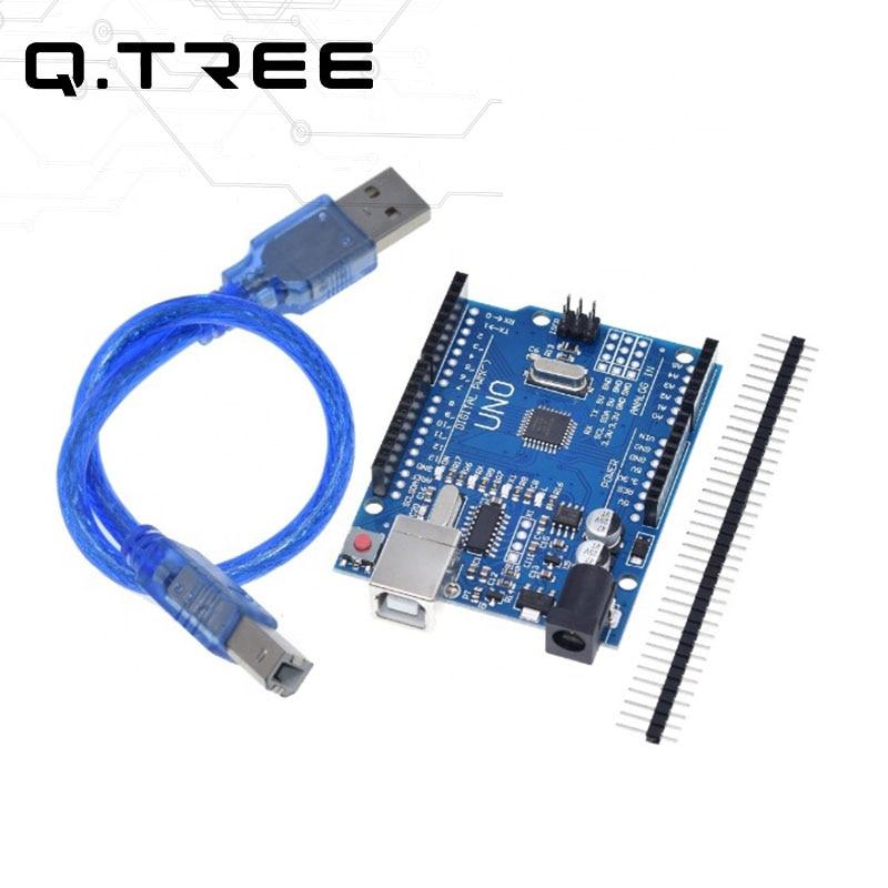 Aliexpress - Compatible Arduino UNO R3 Board ATMEGA328P with USB Cable