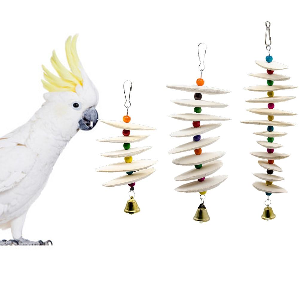 Mascotas aves loros de juguete jaula decoración mascotas suministros Cuttlefish hueso para masticar juguetes de loros sepia Perico Cockatiel Climing Toy