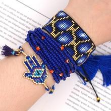 Go2boho Bracelets MIYUKI Bracelet bijoux Hamsa main mauvais oeil Pulseras Mujer Moda femmes léopard perles Insta nouveau brassard de charme