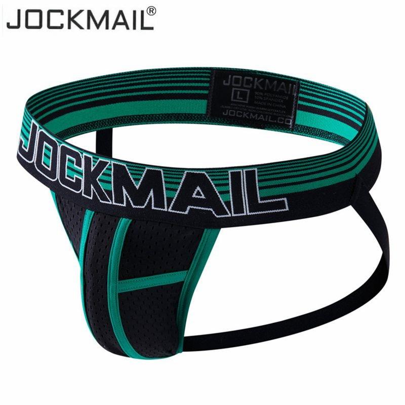 jockmail brand underwear men sexy men jockstrap mens briefs string thong heren lingerie gay underwear panties homme slips embroidery bow detail slips with thong