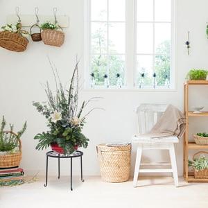 Plant Display Stand Round Shape Flower Metal Shelves Pan Pot 4pcs Art Rack Balcony Garden Holder Outdoor Furniture