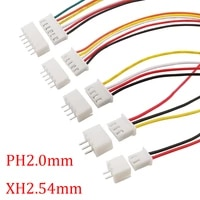 10set jst xh2 54 ph2 0mm wire connector 2p 3p 4p 5p 6p male plug with female socket wire terminal 26awg cable jst connector 20cm