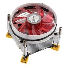9 Cm 12V 92*92*25 Mm Hydraulische Koelventilator Computer Cpu Koeler Koper Koellichaam 2500 rpm Voor Lga 1366 Rood
