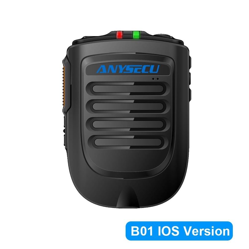 Anysecu Microphone Bluetooth B02 Microphone sans fil portable pour 3G 4G nouvelle Radio IP avec téléphone portable REALPTT ZELLO IOS