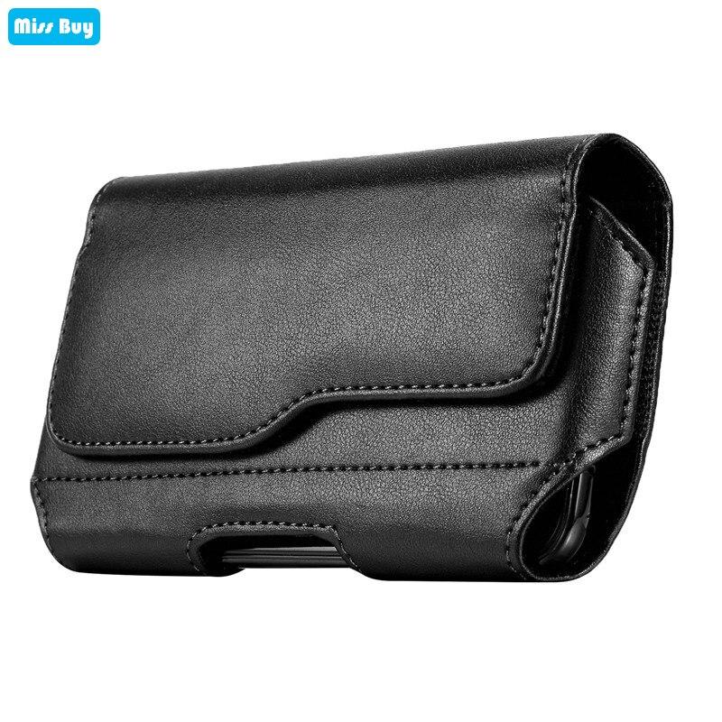 Phone Pouch Bag For Samsung galaxy C5 C7 C9 Pro J2 J3 J5 J7 Prime J3 J5 J7 Pro 2017 Case Leather Flip Cover Waist Holster Belt