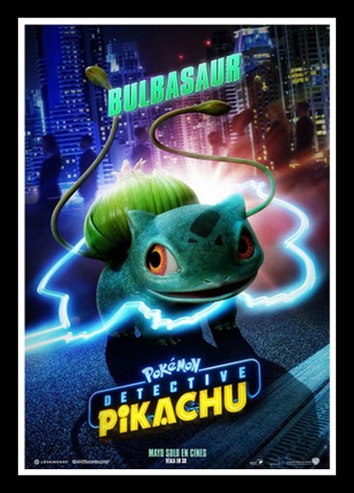 Affiche de peinture artistique de détective Pikachu JL, parfait, nouveau film, décor mural de maison