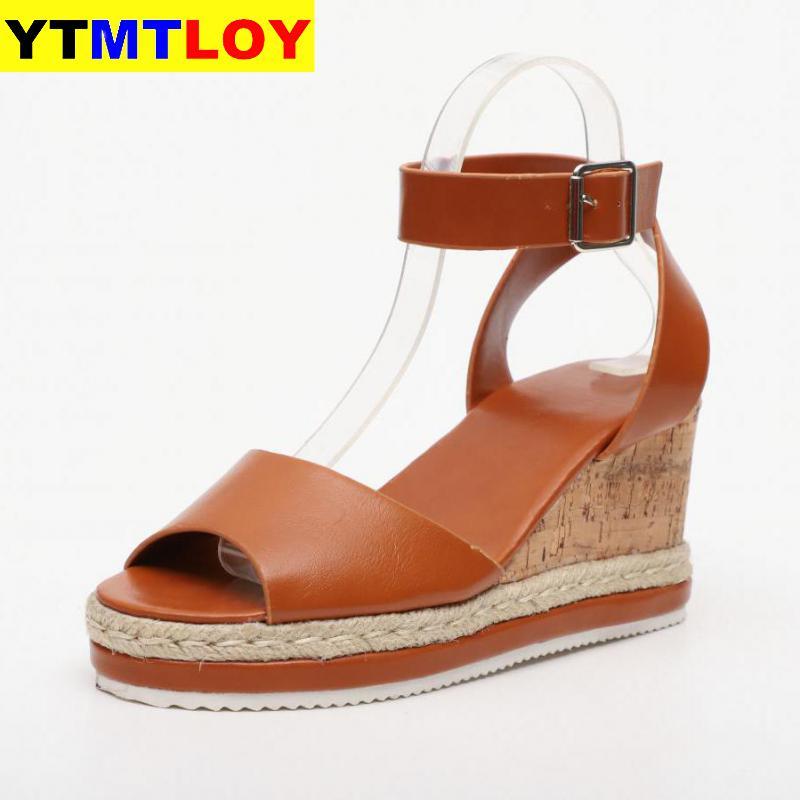 Keile Schuhe Für Frauen Sandalen Dropship High Heels Sommer 2020 Flop Chaussures Femme Plattform Neue Mode Casual Freizeit