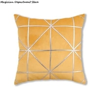 bronze velvet cushion cover modern nordic luxury pillowcase vintage decorative pillowcases for sofa bedroom car 45x45cm luxury