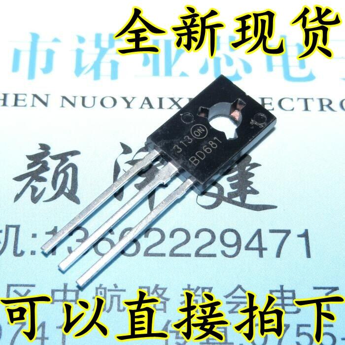 10 pçs/lote BD681 PARA-126 100V 4A 40W NPN Darlington Transistor De Potência