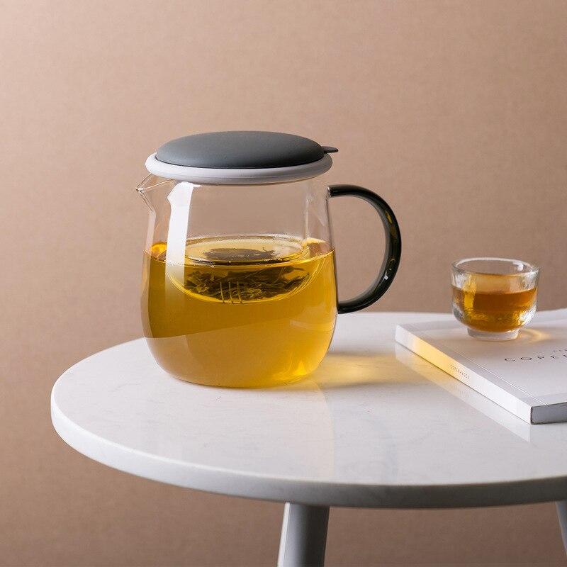 Théière En Verre à Induction poignée accessoires petit infuseur bouilloire tasse à thé fleur Theiere En Verre théière et bouilloires KK60CH