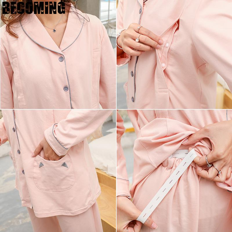 Big Size Maternity Clothes Pregnant Women Sleepwear Pregnancy Clothes Fashion Pregnent Pajamas Plus Size Maternity Pajamas enlarge