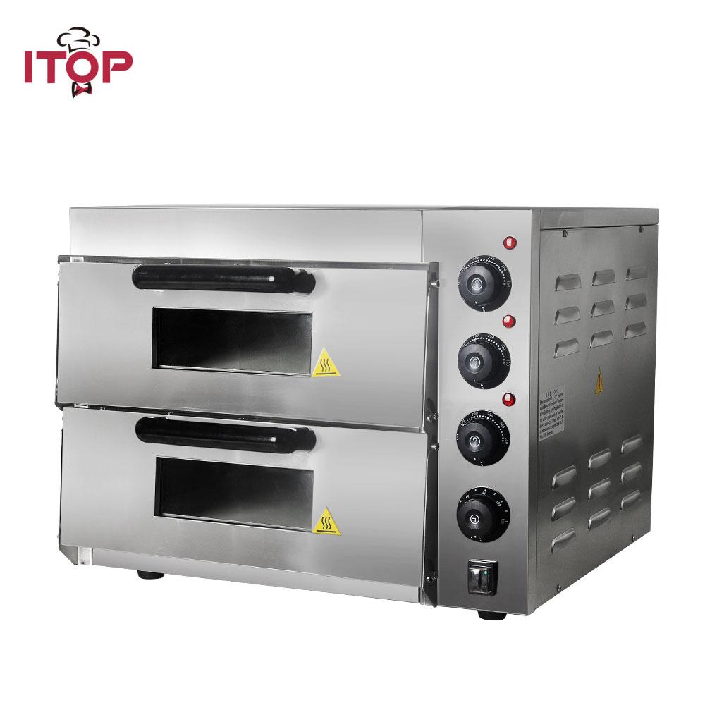 ITOP التجارية طبقة مزدوجة فرن خبز آلة فرن المطبخ الكهربائية الفولاذ المقاوم للصدأ المحمص كعكة الدجاج فرن لخبز العيش