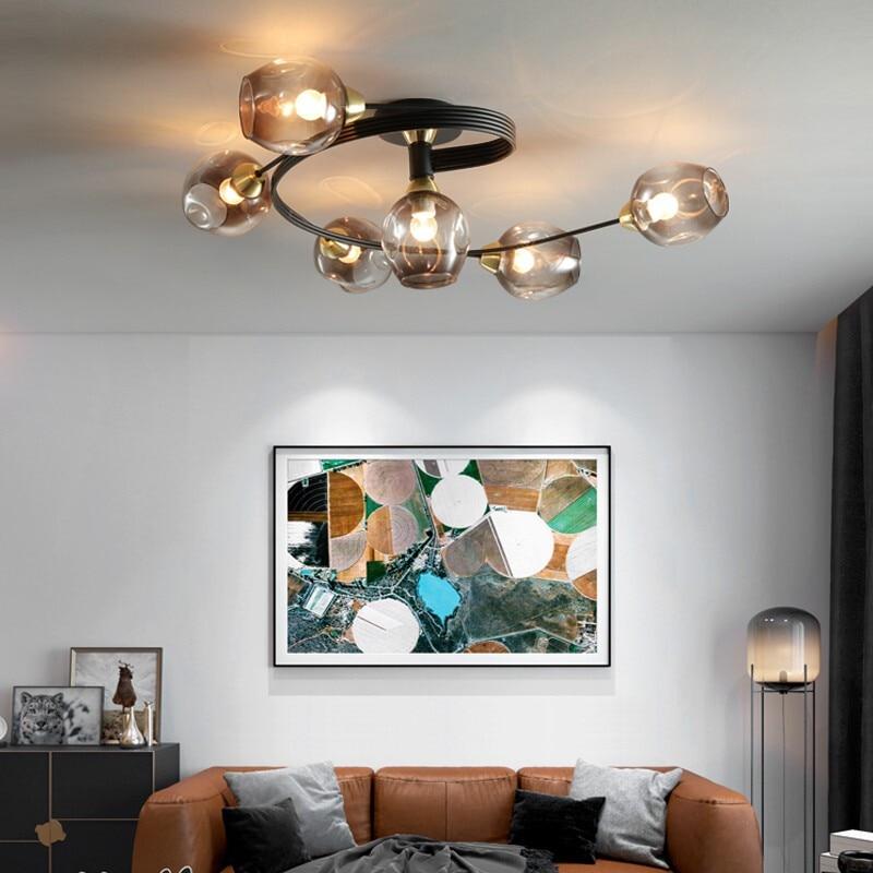 Nordic LED Ceiling Chandeliers Modern Glass Retro Pendant Lamp For Living Dining Room Kitchen Bedroom Cafe Indoor Decor Lights