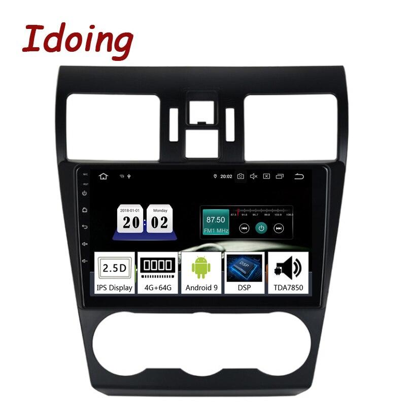 "Idoing 9 ""2.5d ips carro android9.0 rádio multimídia player para subaru wrx 2013-2015 px5 4g + 64g octa núcleo gps navegação tda7850"