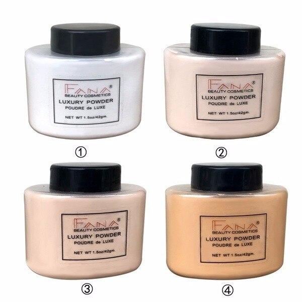 Polvo Facial Banana Control de aceite polvo suelto liso translúcido ajuste belleza resaltador Mineral polvo de maquillaje Facial TSLM1