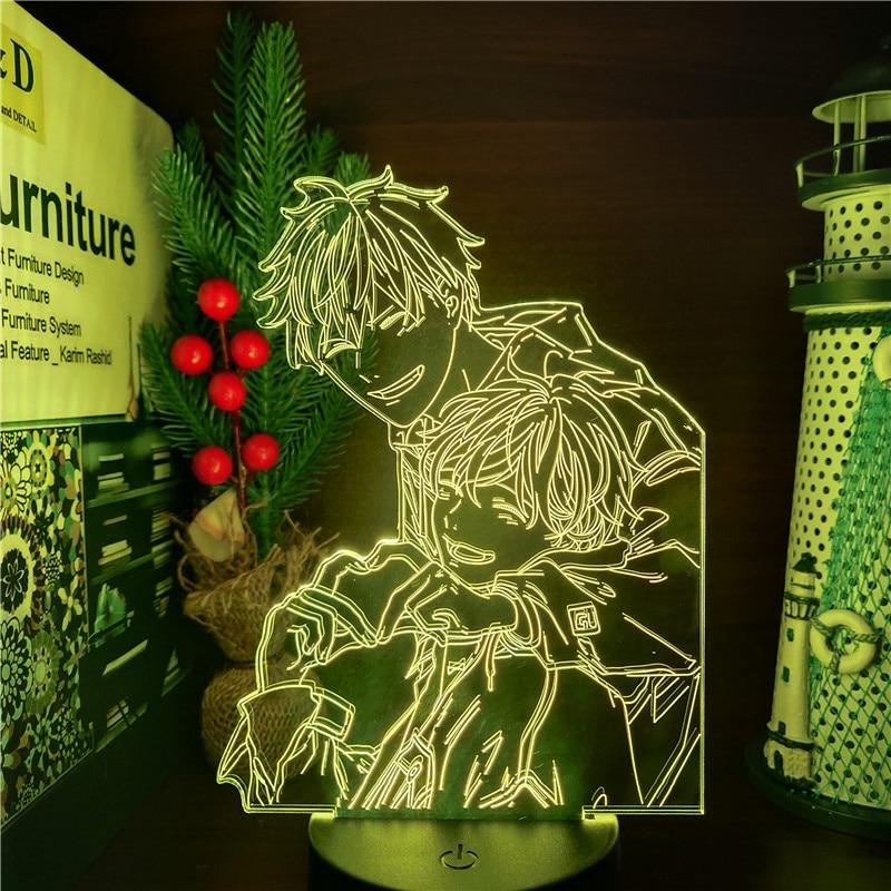 Given Mafuyu And Uenoyama LED ANIME LAMP 3D Nightlights 7 Color Changing Visual Table Lamp For Xmas Gift