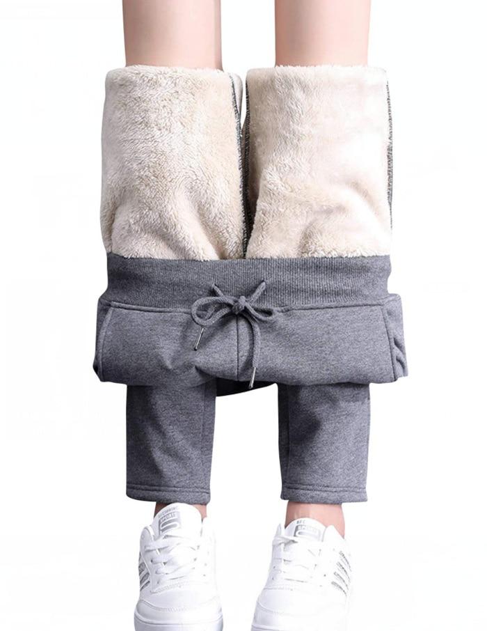 Новые женские осенне-зимние кашемировые утепленные брюки плюшевые теплые спортивные брюки большие свободные повседневные хлопковые брюки