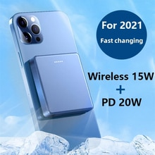 PD 20W 10000mAh Wireless Power Bank 15W Mobile Phone Fast Charger For iphone 12 Pro 13 mini 12 Pro M