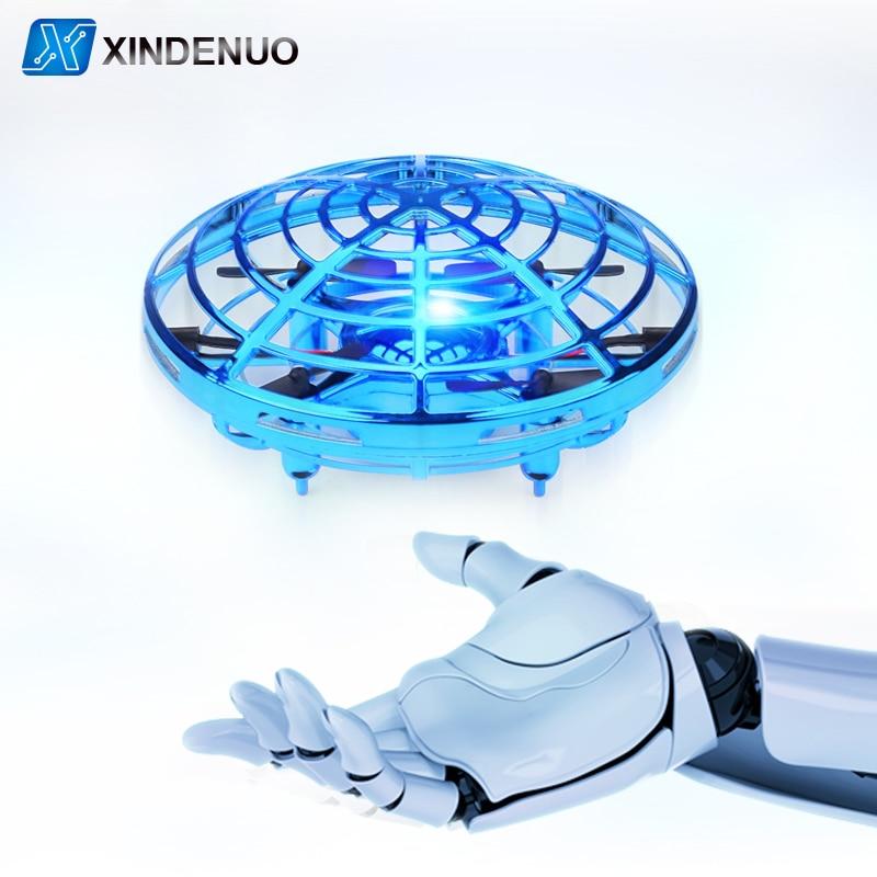 유도 UFO RC 헬리콥터 Infraed 손 감지 항공기 전자 모델 Quadcopter flayaball 어린이위한 작은 무인 장난감