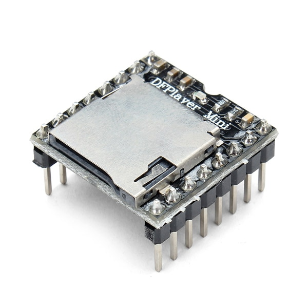 CLAITE pour Arduino Mini carte de décodeur Audio vocal DFPlayer Module de lecteur MP3 prenant en charge la carte TF u-disk IO/Port série/AD