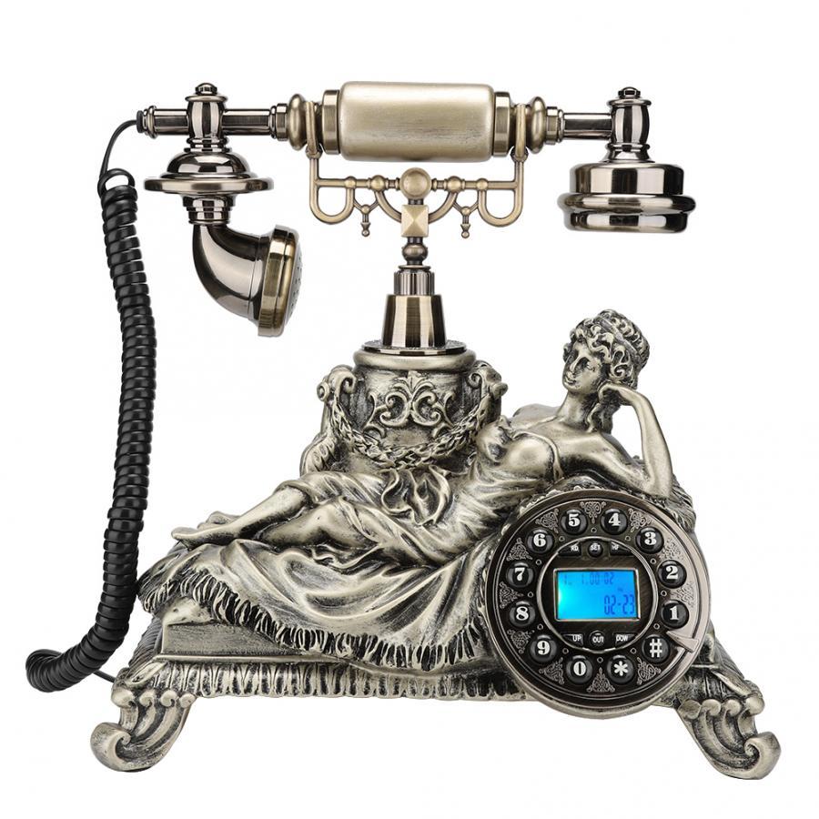MS-83070C Bronze Europäischen Stil Antike Anrufer ID Festnetz Telefon Wohnkultur Hotel Büro Desktop Telefon