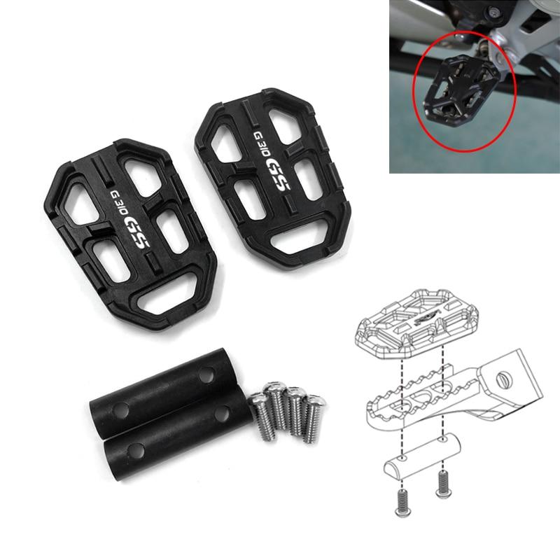 Motocicleta billet mx ampla pé pegs apoio para os pés footpegs repousa pedais para bmw 2017 2018 2019 g310gs g310 gs g 310r