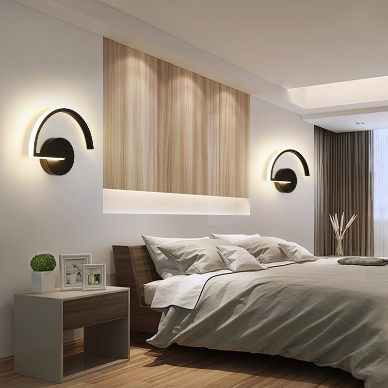 مصباح جداري LED بتصميم نورديك بسيط ، إضاءة داخلية ، مثالي لغرفة النوم ، غرفة المعيشة ، الممر ، القراءة ، إلخ.
