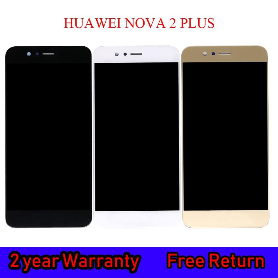 Substituição original para huawei nova 2 plus BAC-AL00 display lcd de toque digitador da tela com moldura para huawei nova2 plus