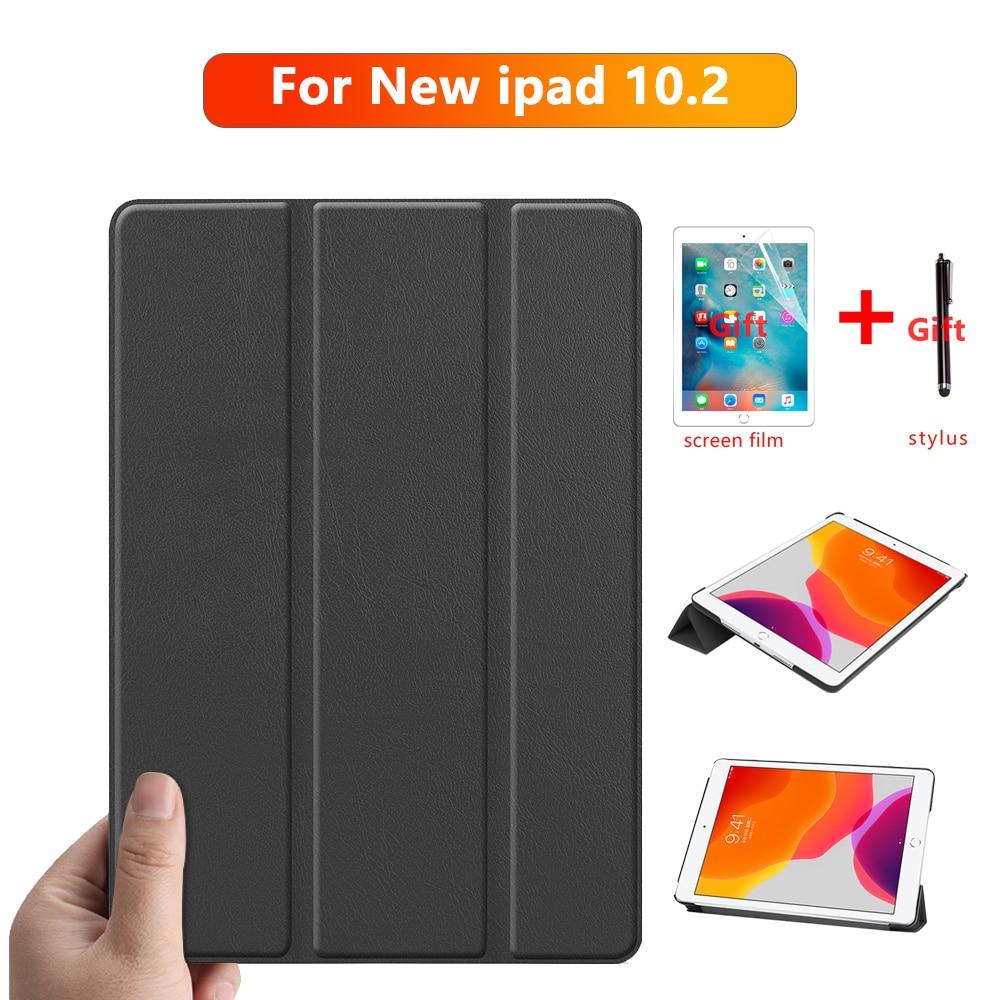 Для iPad 10,2 2019, чехол для планшета Apple iPad 7-го поколения, Магнитная подставка, чехол, кожаный чехол, защитный чехол + подарок чехол