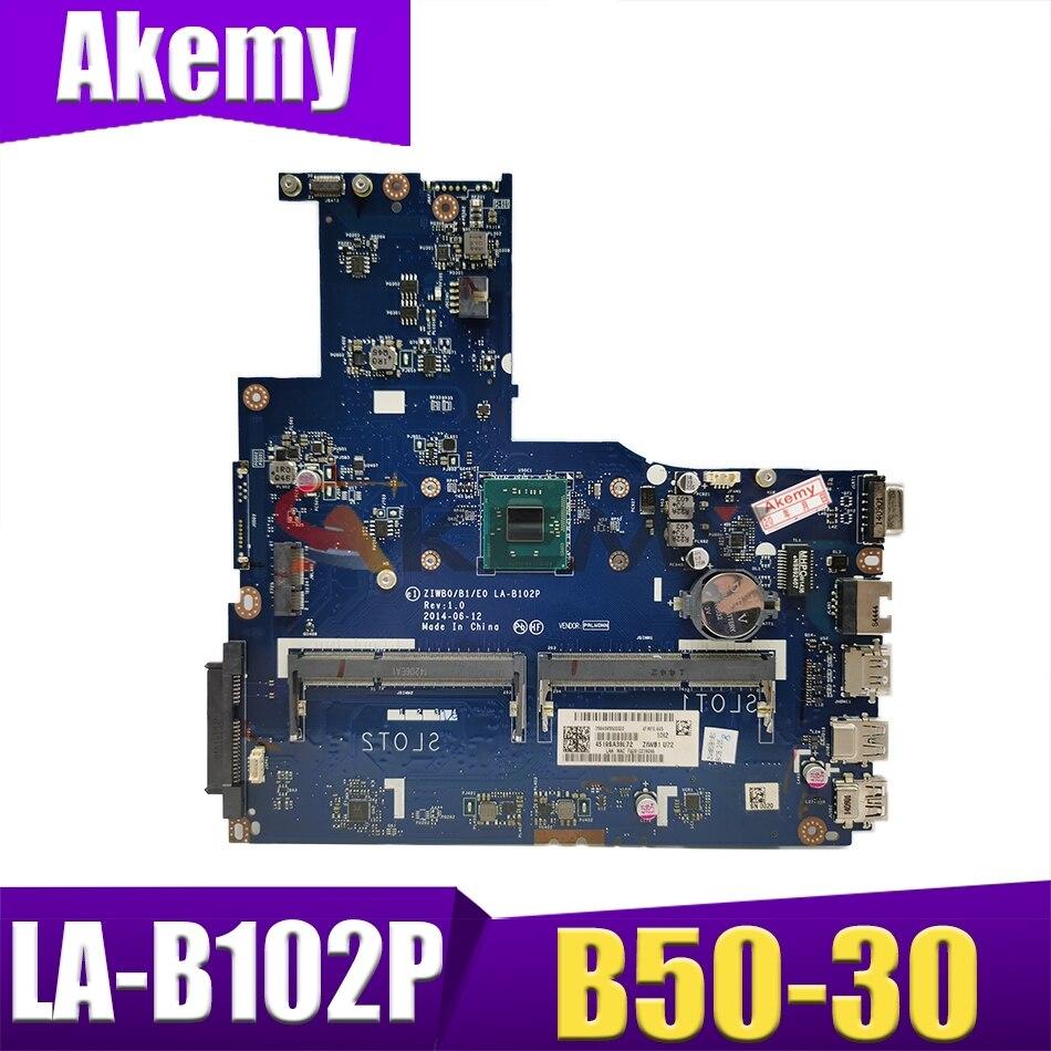 الأصلي الجديد لينوفو B50-30 ZIWB0/B1/E0 LA-B102P اللوحة الأم N3540 N3530 وحدة المعالجة المركزية