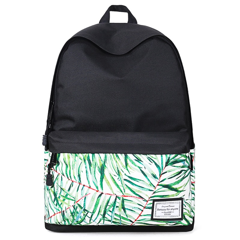 Women Fashion Printed Backpack Canvas School Bag For Teenage Girl Student Bookbag Travel Laptop Back Bag  Black Bagpack Rucksack corduroy women backpack bookbag laptop daypack college travel school shoulder bag for teenage girl f42a