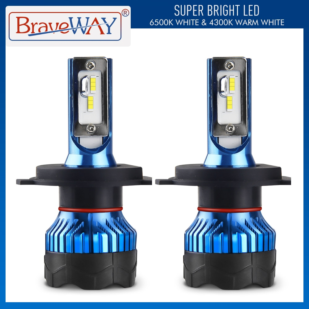 BraveWay Led سيارة رئيس مصابيح كهربائية H4 H7 H1 توربو Led 9006 HB4 Led لمبات جميع للسيارة الضباب ضوء H11 HB3 مصباح للسيارات مصابيح كهربائية
