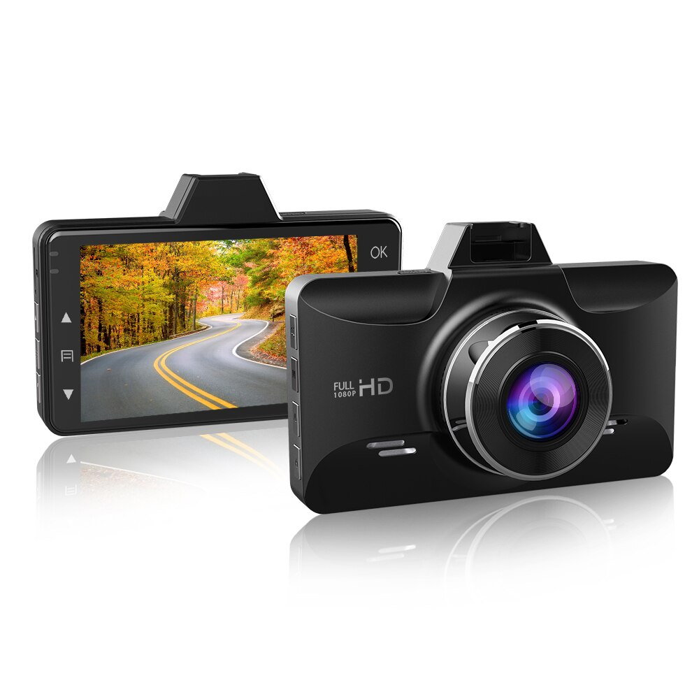 JOHOX-01 Dash cam 3-Inch 2.5D Screen 1080P HD Car recorder Driver Fatigue Alert 170 View Angle G-sensor for Uber Lyft