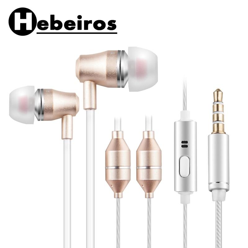 Tubo de aire Anti-radiación auricular 3,5mm en el oído auriculares con cable estéreo con micrófono para Samsung huawei Xiaomi iPhone 6