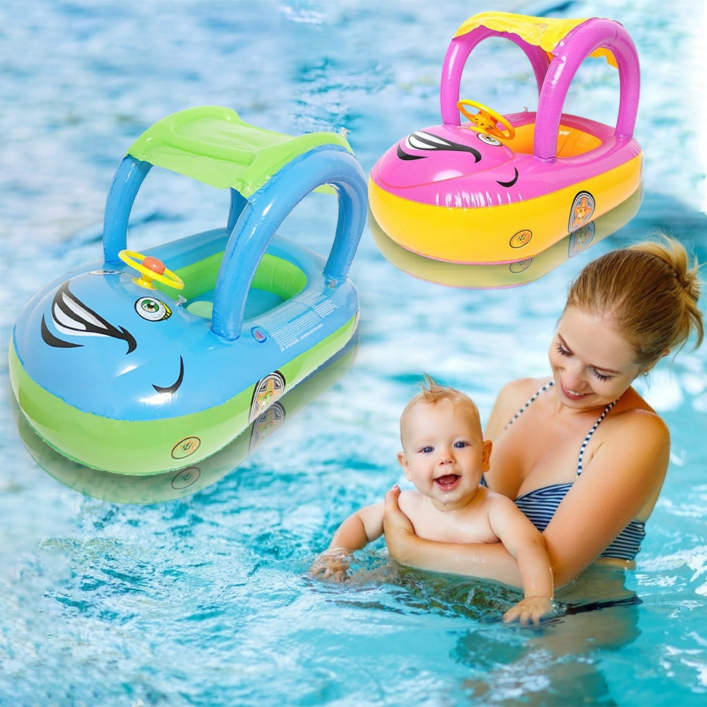 Niños bebé flotador bote anillos seguro bote inflable Infante natación piscina juguete niño piscina natación asiento coche bote inflable 2020